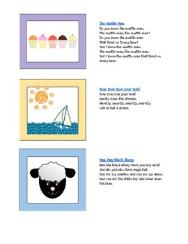 Singing Time Visual Song Cards PACK 2
