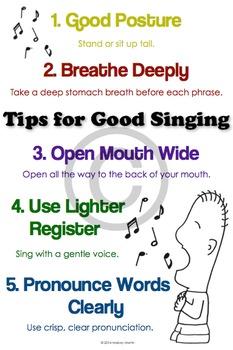 Singing Tips Poster: Singing Technique, Good Singing, Musi