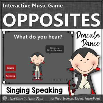 Singing Voice or Speaking Voice - Interactive Music Game {2 Voices} dracula