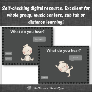 Singing Voice vs Speaking Voice Ghostie Dance Interactive Music Game {2 voices}