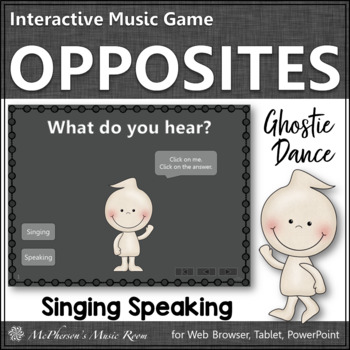 Fall Music Game: Singing vs. Speaking 2 Voices Interactive Music Game {Ghostie}