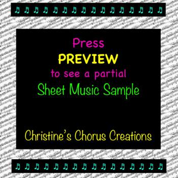Chorus Warm-up 1-7-8, Ee-Ah, Accompaniment Sheet Music