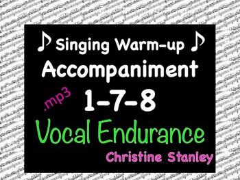 Singing Warm-up 1-7-8, Ee-Ah ♪ ♪ ♪ .mp3 Accompaniment Sing-a-long Trax