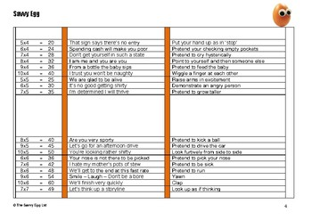 Singing and Actions Times Tables