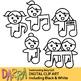 Singing clip art
