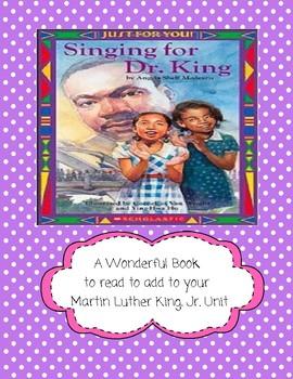 Singing for Dr. King by Angela Shelf Medearis