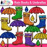 Rain Boot and Umbrella Clipart: Spring Graphics {Glitter Meets Glue}