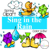 Singing in the Rain Clipart
