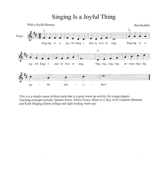 Singing is a Joyful Thing-Canon