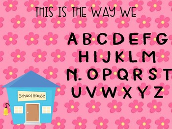 Singing the Alphabet posters