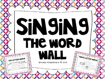 Singing the Word Wall Freebie