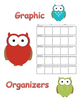 Single, 3, 5, 6, and 7 Differentiated Paragraph Graphic Organizer Pack