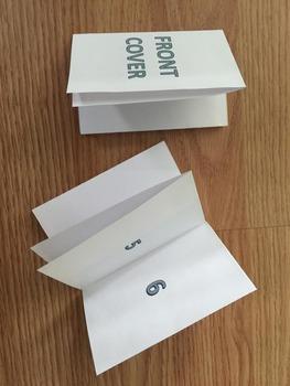 """8.5"""" by 11"""" Fold Book *editable*"""