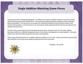 Single Addition Matching Game Pieces