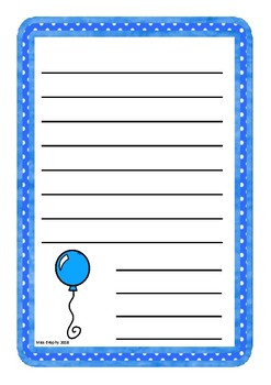 Single Balloon Worksheet Blue