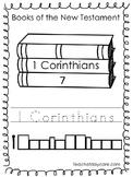 Single Bible Curriculum Worksheet. 1 Corinthians Bible Book Preschool Worksheet.