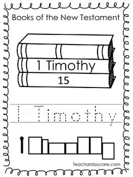 Single Bible Curriculum Worksheet. 1 Timothy Bible Book Pr