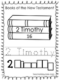 Single Bible Curriculum Worksheet. 2 Timothy Bible Book Preschool Worksheet. Pre
