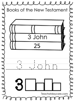 Single Bible Curriculum Worksheet. 3 John Bible Book Presc