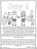 Single Bible Curriculum Worksheet. Days of Creation Day 6 Preschool Bible Worksh