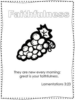 Single Bible Curriculum Worksheet. Fruit of the Spirit Faithfulness Preschool