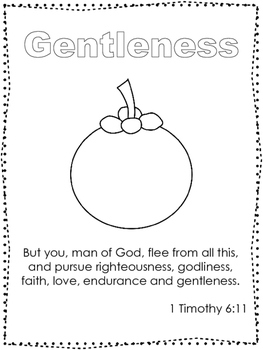 Single Bible Curriculum Worksheet. Fruit of the Spirit Gen
