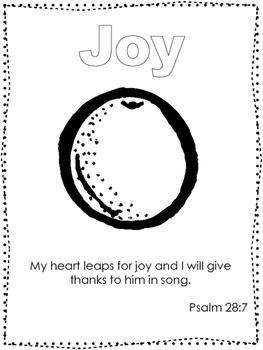 Single Bible Curriculum Worksheet. Fruit of the Spirit Joy Preschool Bible Work