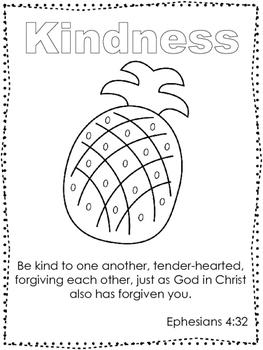 Single Bible Curriculum Worksheet. Fruit of the Spirit Kindness Preschool Bible