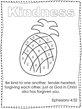 Single Bible Curriculum Worksheet Fruit of the Spirit