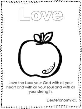Single Bible Curriculum Worksheet. Fruit of the Spirit Lov