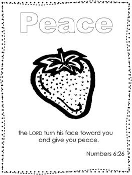 Single Bible Curriculum Worksheet. Fruit of the Spirit Peace Preschool Bible Wor