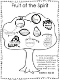 Single Bible Curriculum Worksheet. Fruit of the Spirit Tree Preschool Bible Work