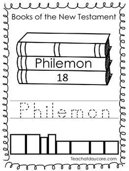 Single Bible Curriculum Worksheet. Philemon Bible Book Pre