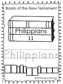 Single Bible Curriculum Worksheet. Philippians Bible Book Preschool Worksheet.