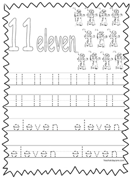 Single Bible Curriculum Worksheet. Trace the Number 11 Preschool Math Worksheet.