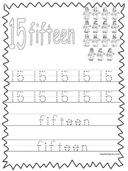 Single Bible Curriculum Worksheet. Trace the Number 15 Preschool Math Worksheet.