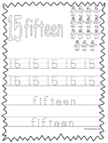 Single Bible Curriculum Worksheet. Trace the Number 15 Preschool Math Worksheet.