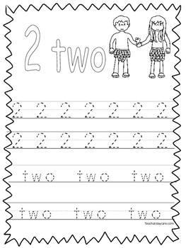 Single Bible Curriculum Worksheet. Trace the Number 2 Pres