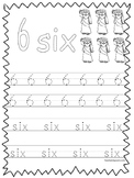 Single Bible Curriculum Worksheet. Trace the Number 6 Preschool Math Worksheet.