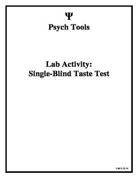 Single-Blind Experiment - Taste Test