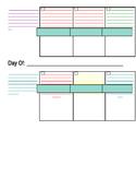Single Child Lesson Planner Segoe Font