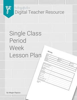 Single Class Period Lesson Plan
