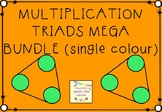 Single Colour Multiplication and Division Triads Mega Bundle