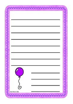 Single Coloured Balloon Worksheet