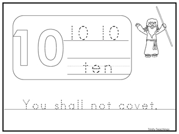 photo about 10 Commandments Printable identify One Commandment 10 Printable Worksheet. Preschool-Kindergarten Bible Analysis.