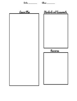 Single Day Standards Based Planner