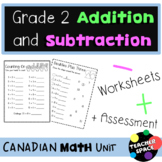 Addition and Subtraction Unit for Second Grade (Bundle) - Distance Learning