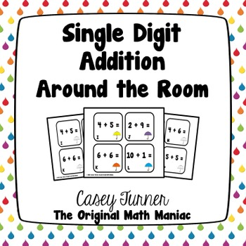 Single Digit Addition Around the Room