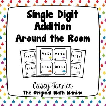 Single Digit Addition Around the Room