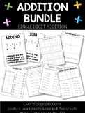 Single-Digit Addition BUNDLE -- over 15 pages included!